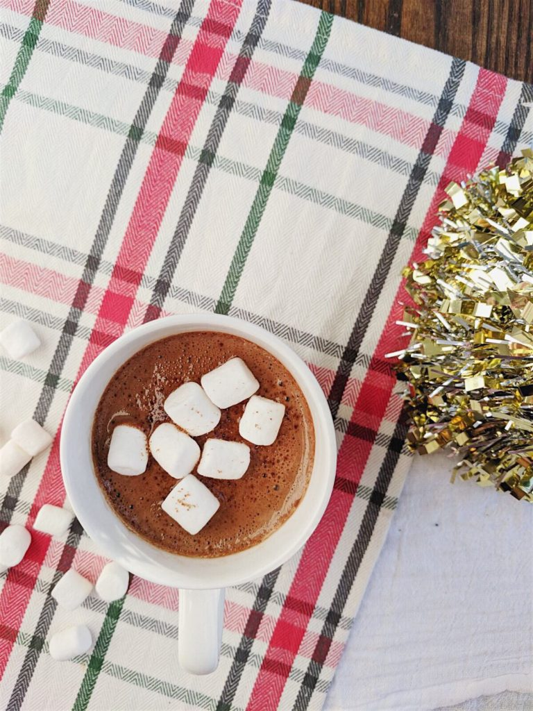 Homemade Hot Chocolate - toasted coconut hot chocolate