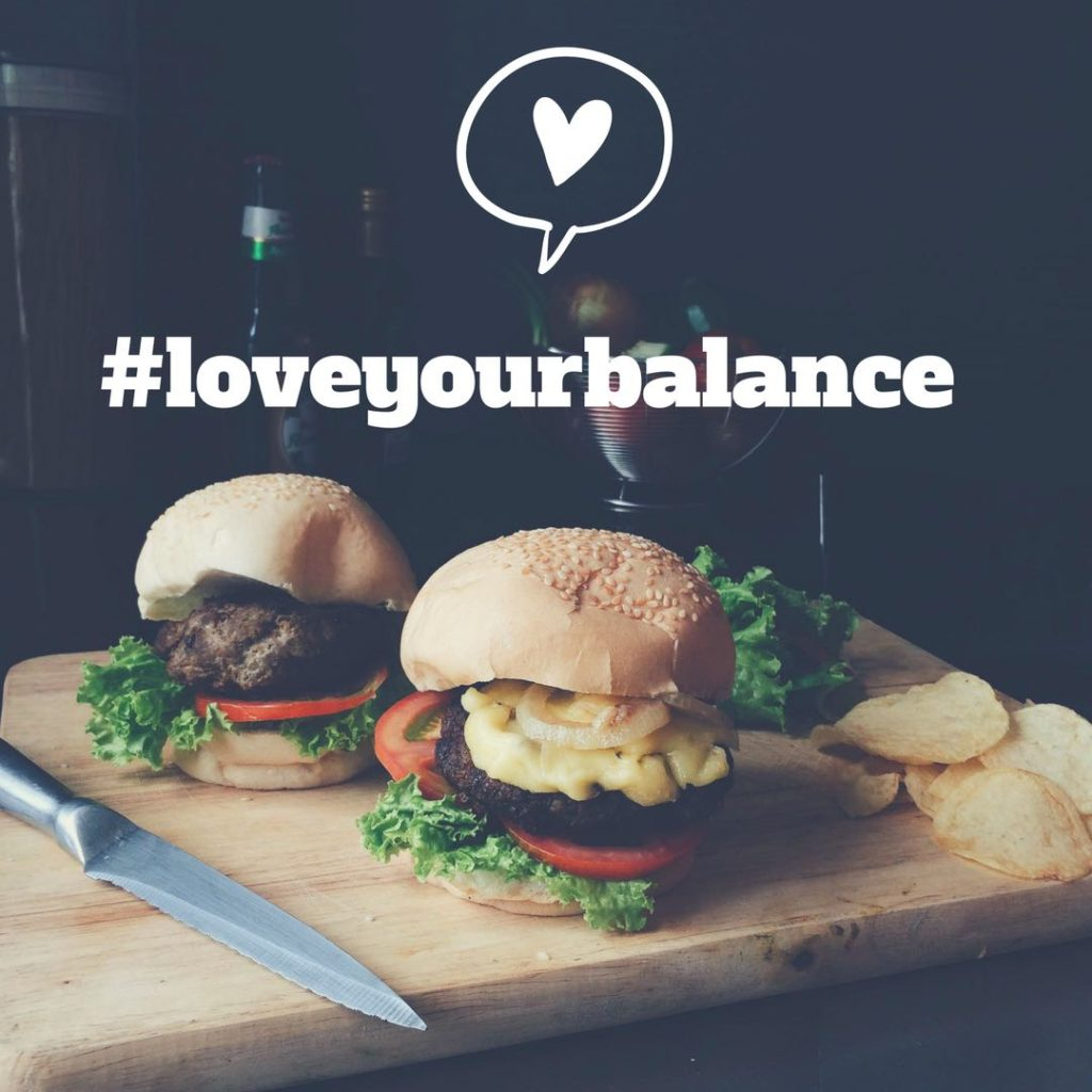 The Real Story Behind my Weight Loss Love Your Balance graphic