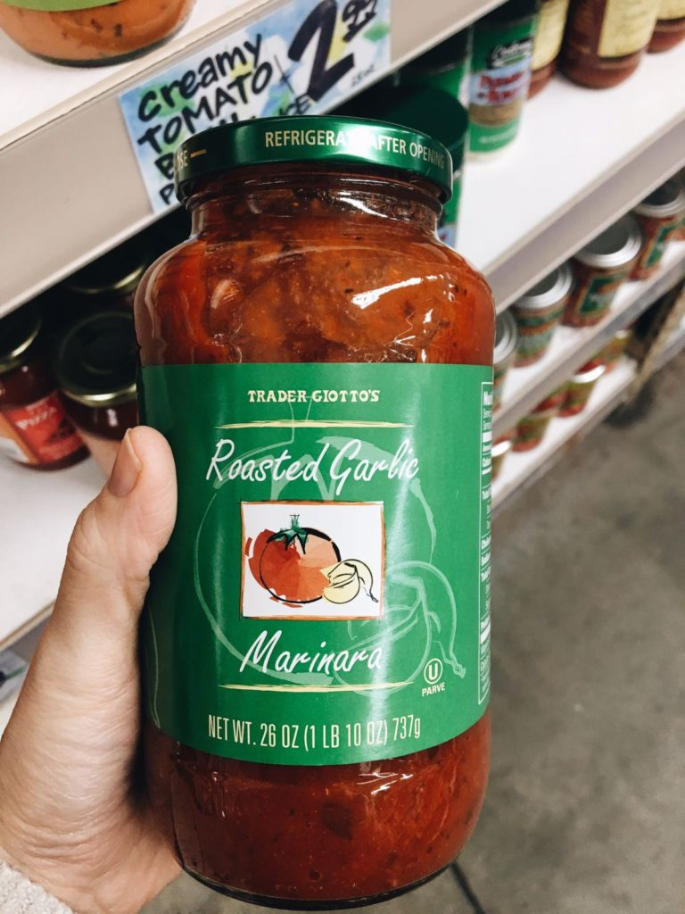 18 favorite trader joe's items trader giotto's roasted garlic marinara