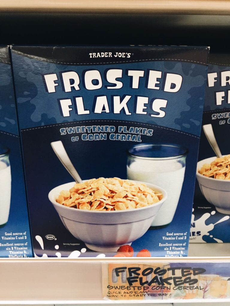 18 favorite trader joe's items frosted flakes cereal