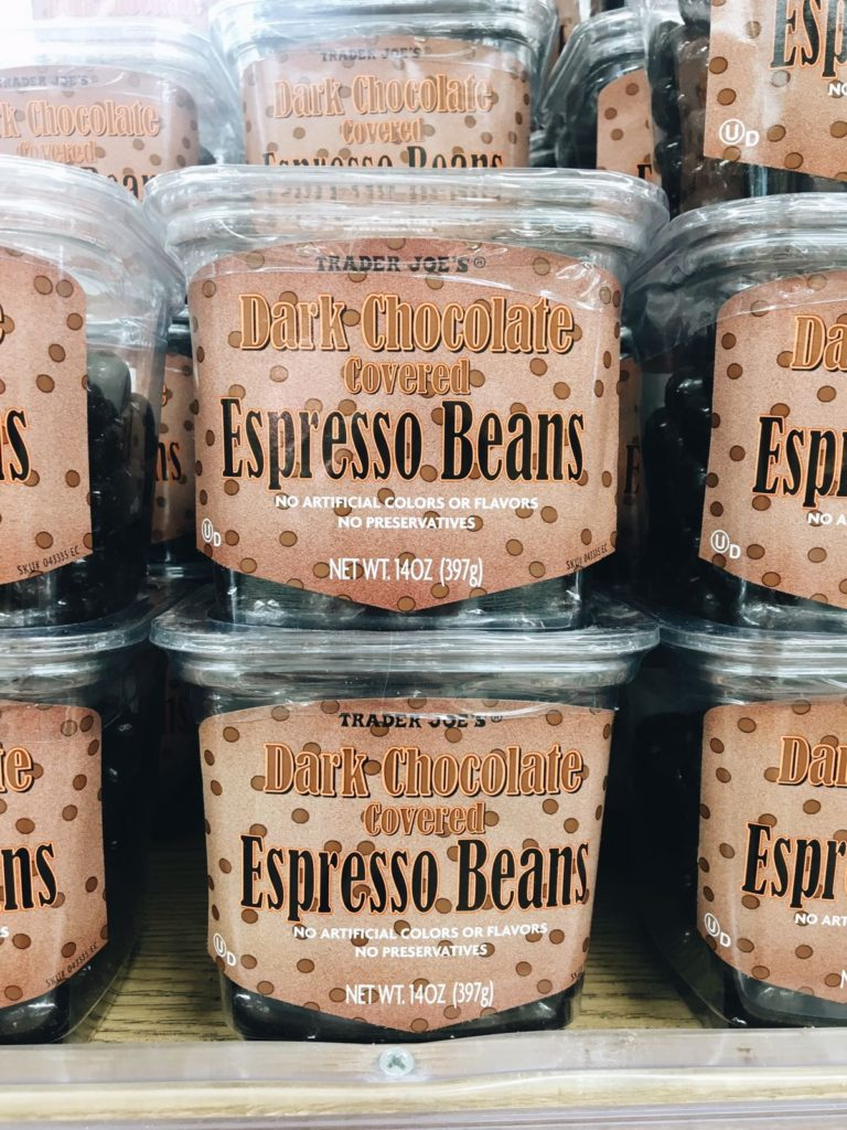 18 favorite trader joe's items dark chocolate covered espresso beans