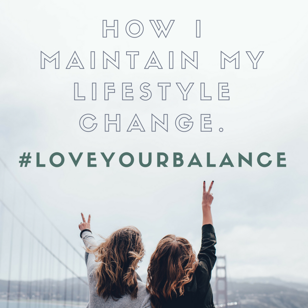 maintaing a lifestyle change graphic