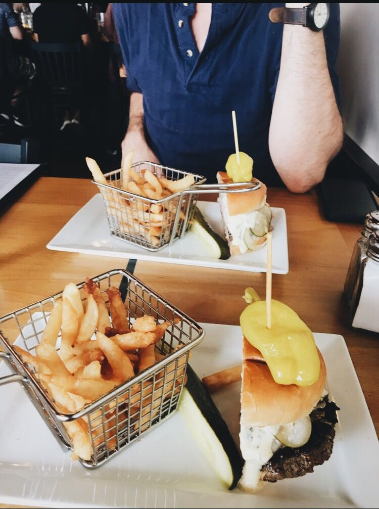 maintaining a lifestyle change burger and fries photo