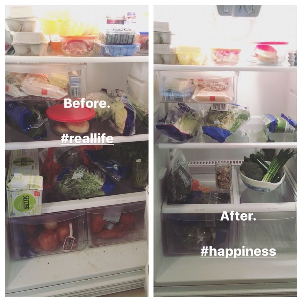 refrigerator staples before and after shot