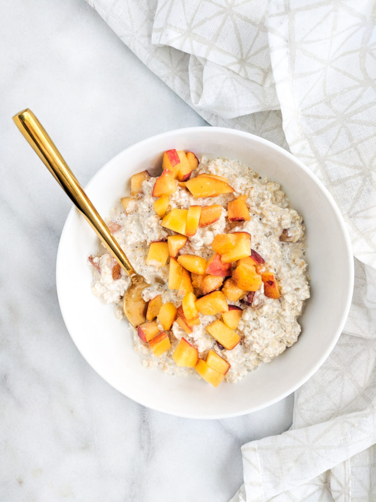 peaches and cream overnight oats without the cream
