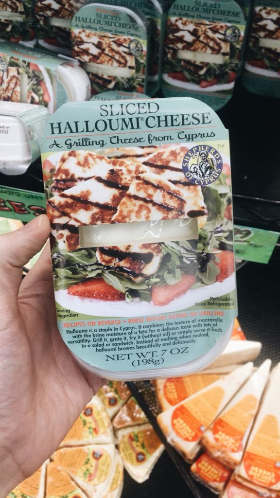 package of trader joe's halloumi cheese
