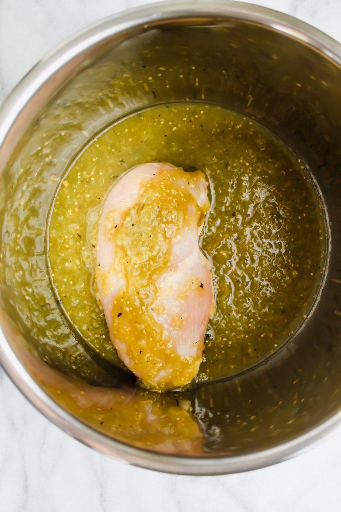 chicken with salsa verde in instant pot