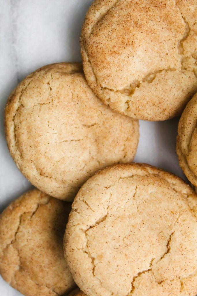 close up of Soft Chai Snickerdoodles
