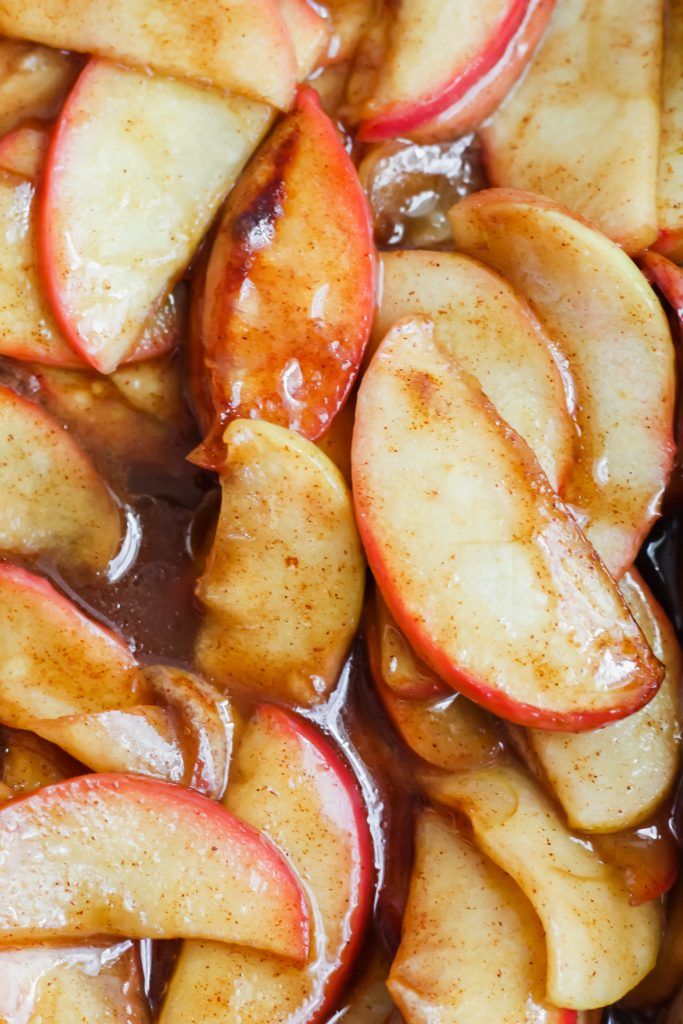 close up of Cinnamon Spice Baked Apples