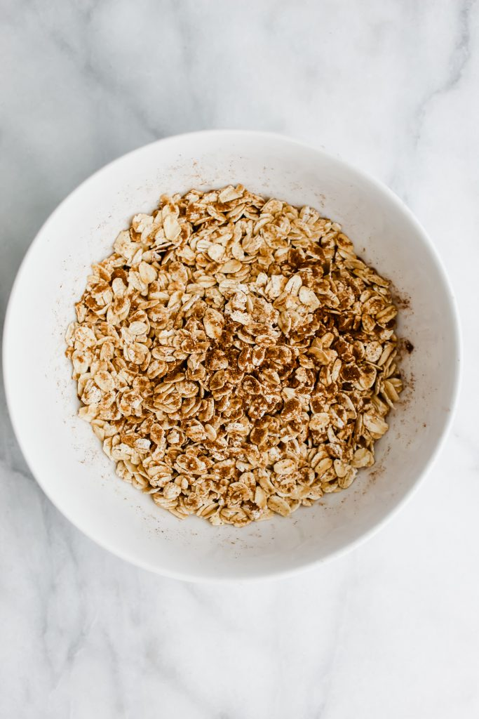 rolled oats in the homemade chai spice