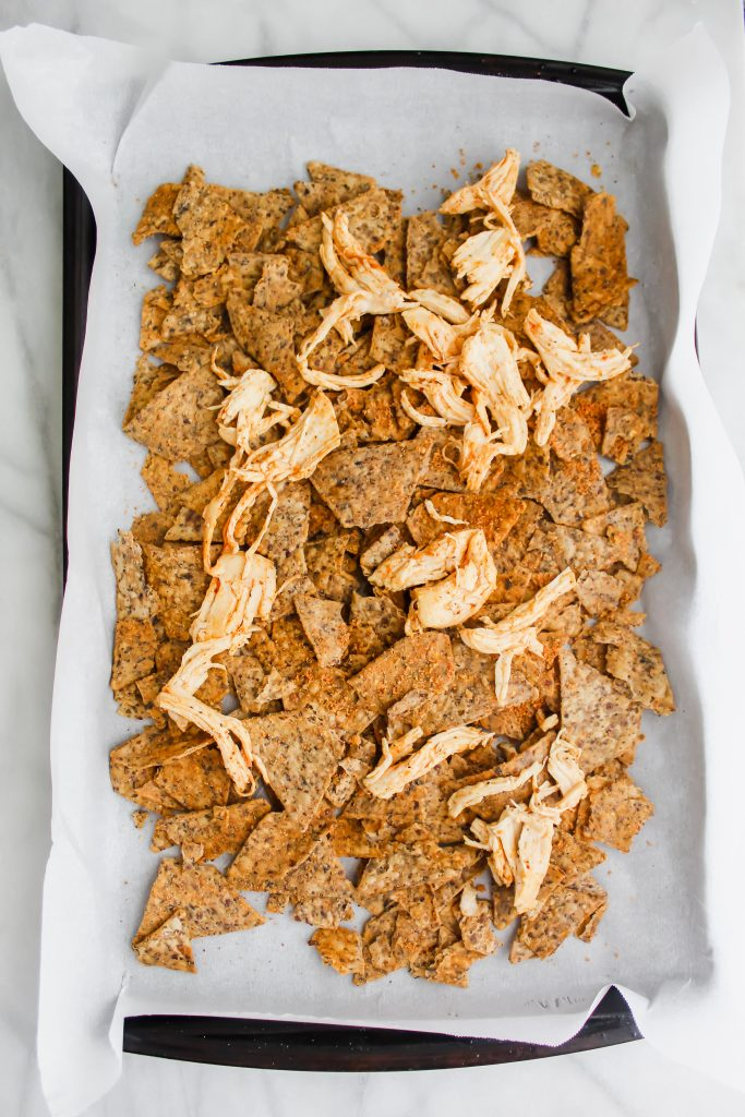 beanfield's bean chips with shredded chicken