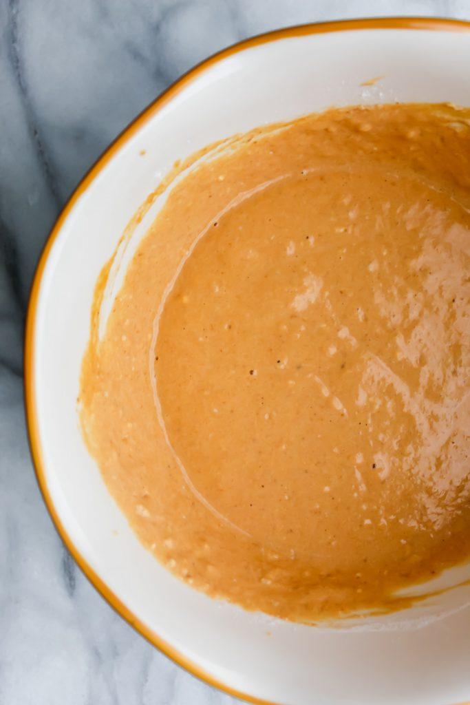 Honey Maple Pumpkin Pancake batter