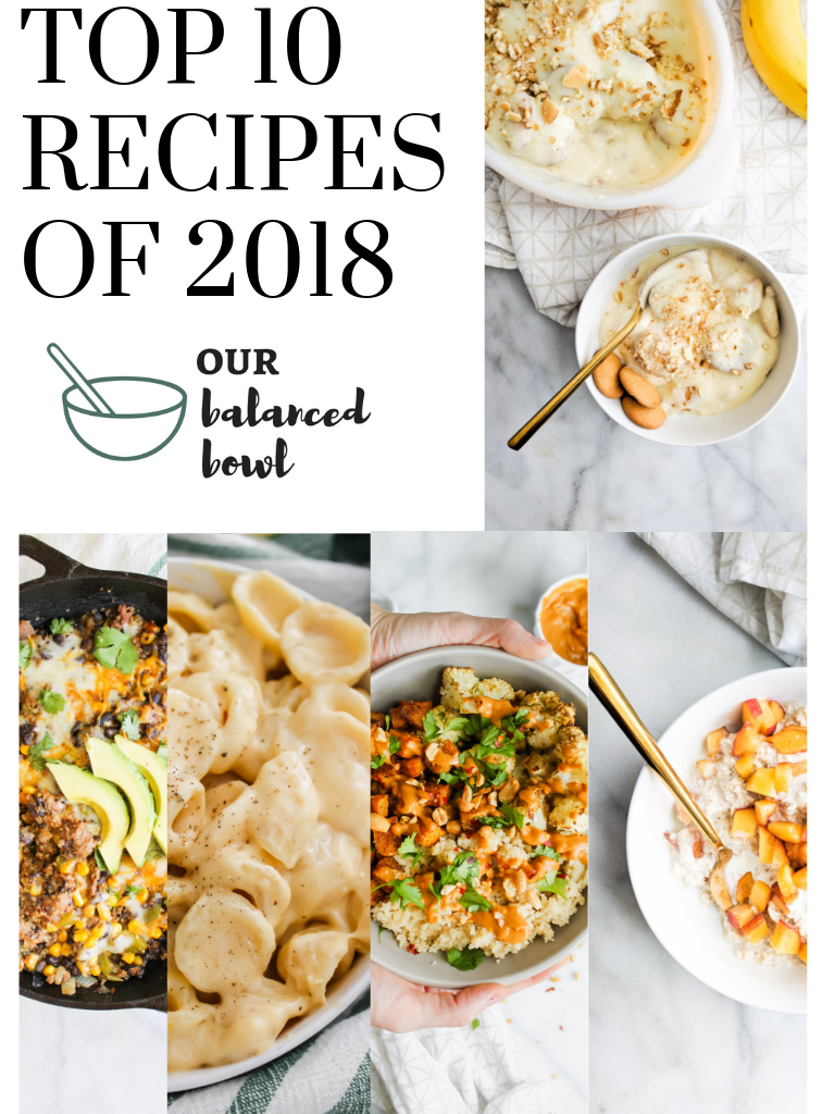 top 10 recipes of 2018 graphic