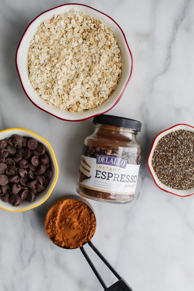 Chocolate Coffee Granola ingredients