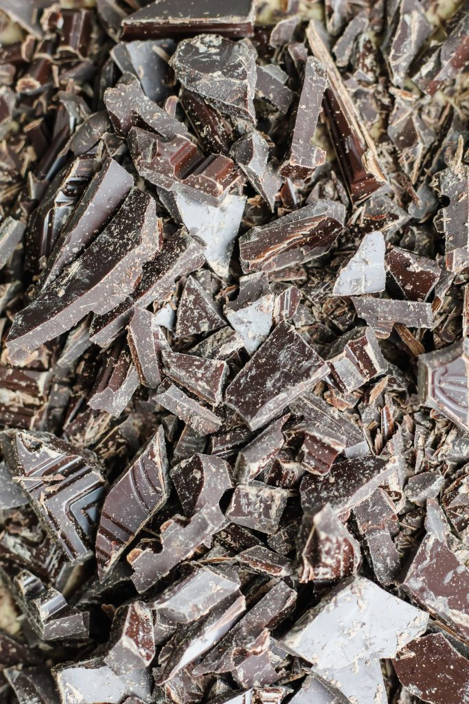 chopped dark chocolate