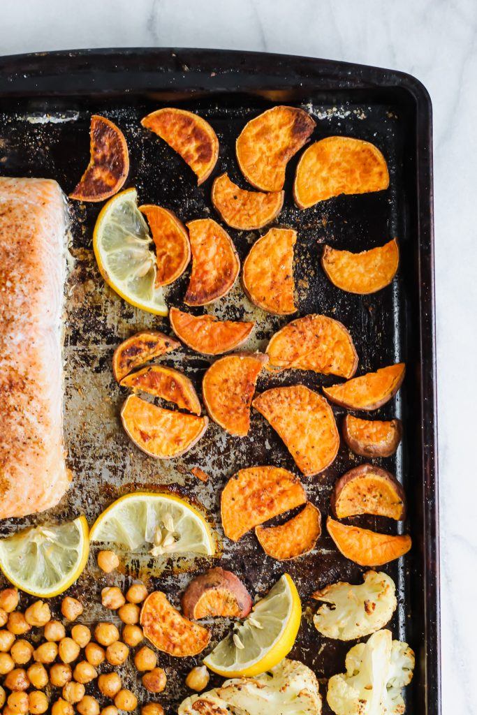 roasted moroccan sweet potatoes
