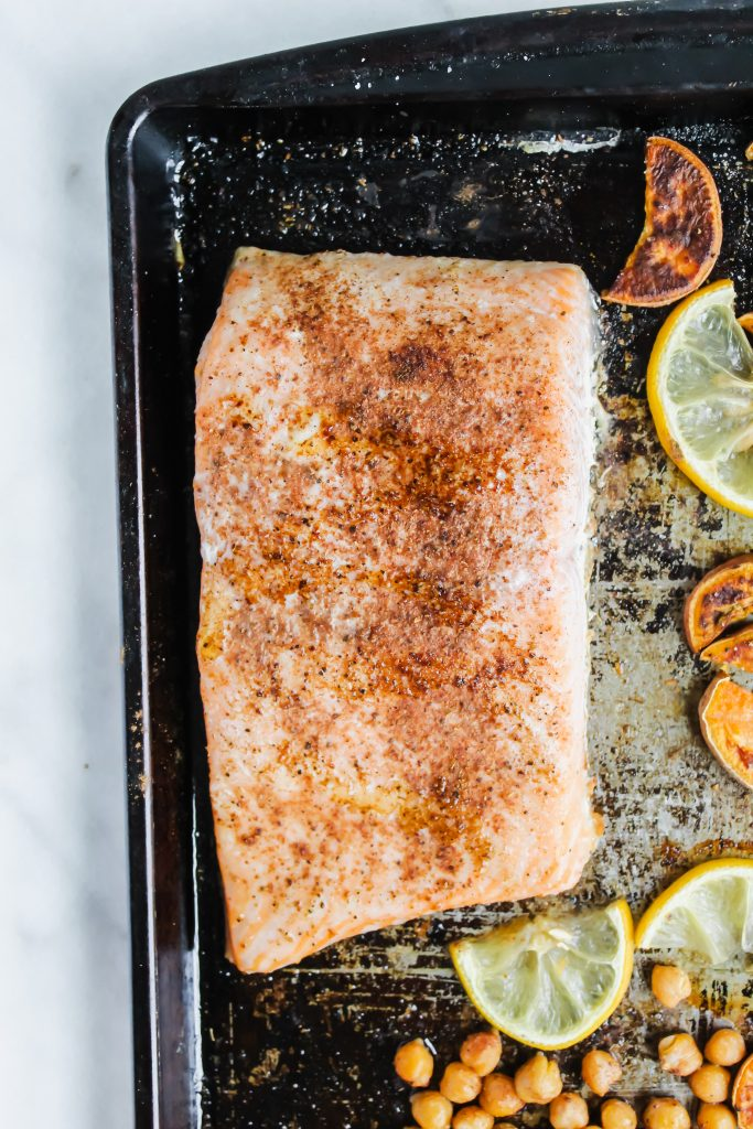 roasted moroccan salmon