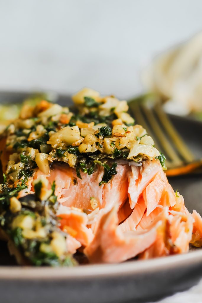 flaky Garlic Butter Pan Roasted Salmon