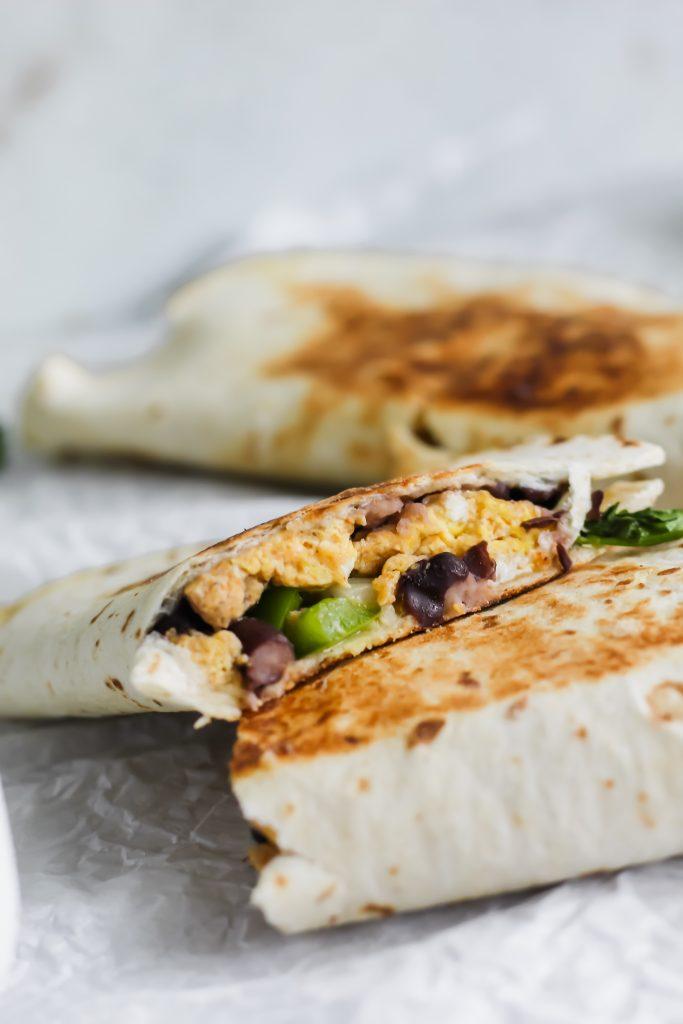 inside of Breakfast Quesadillas