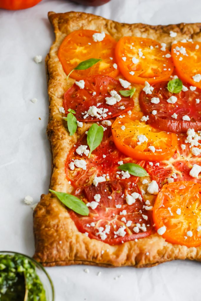 side view of Heirloom Tomato Tart