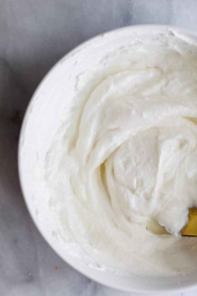 whipped ricotta in bowl