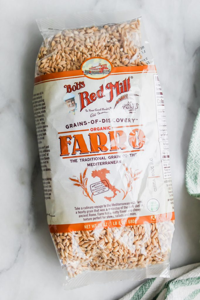 Bobs Red Mill organic farro package