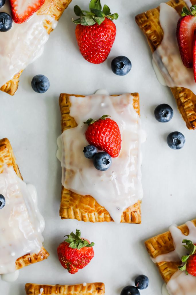 Homemade Berry Pop Tarts frosted