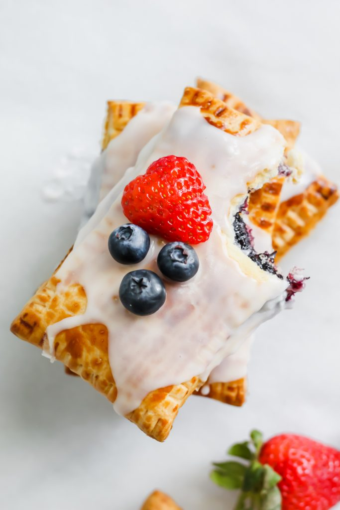 stacked Homemade Berry Pop Tarts