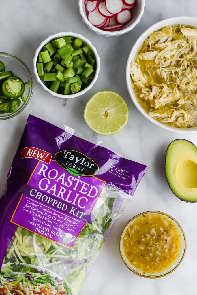 ingredients for Roasted Garlic Green Goddess Tacos