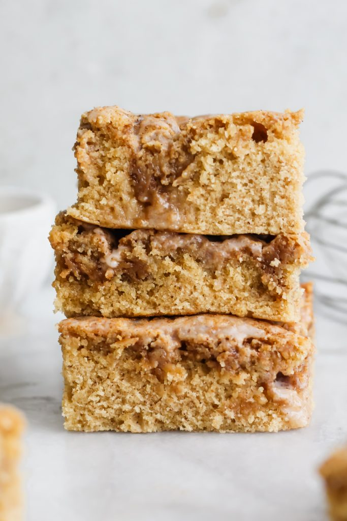 stack of pieces of Chai Spiced Coffee Cake