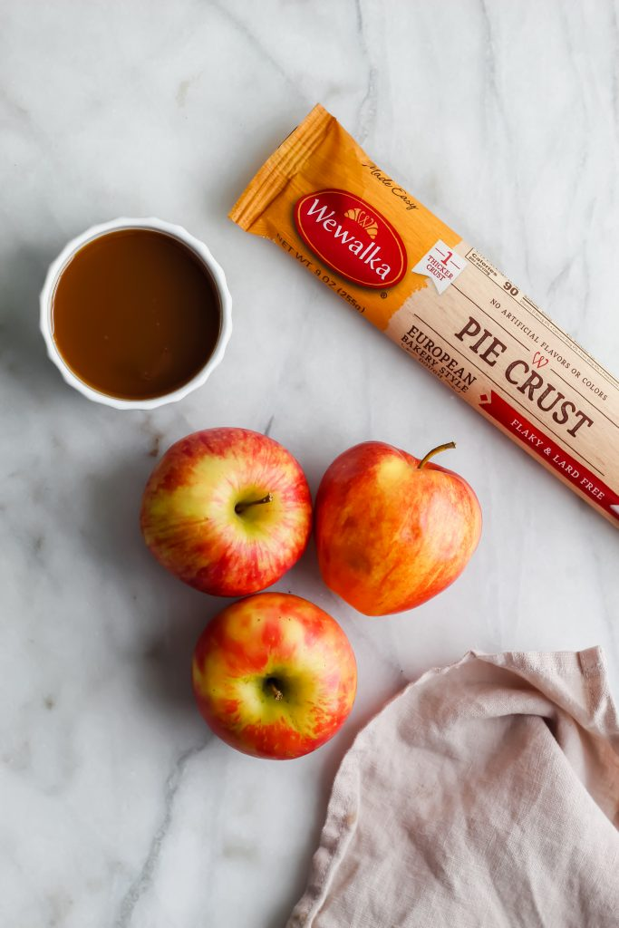 ingredients for Salted Caramel Apple Galette